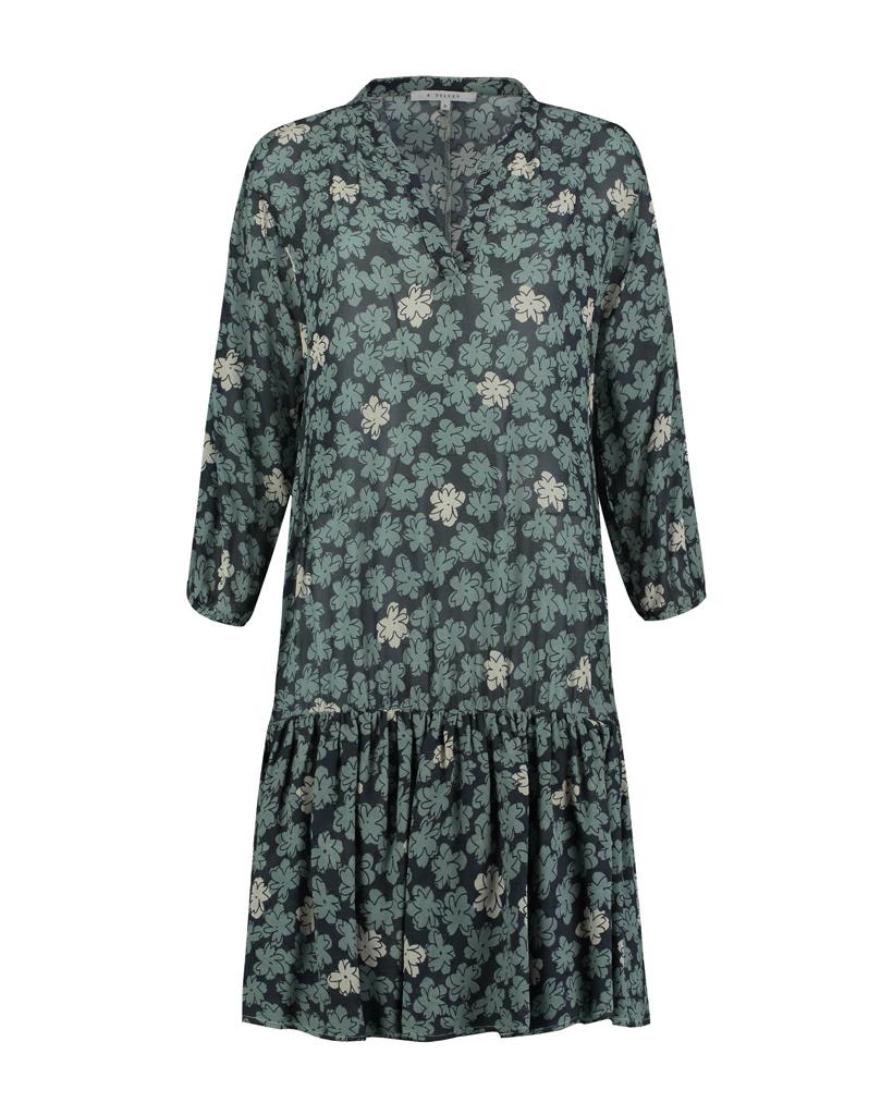 SYLVER Sketch Flowers Dress - Tundra