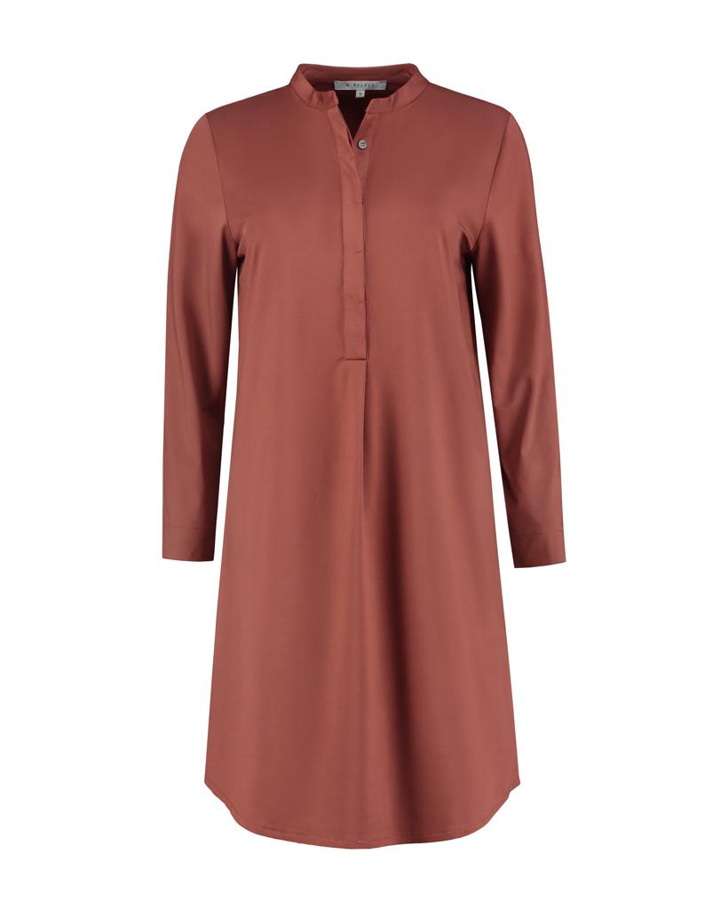 SYLVER Silky Jersey Dress - Rust