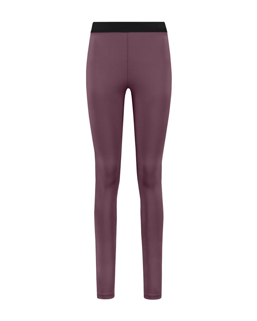 SYLVER Silky Jersey Legging - Choco Wine