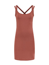 SYLVER Cotton Elastane Dress - Rust