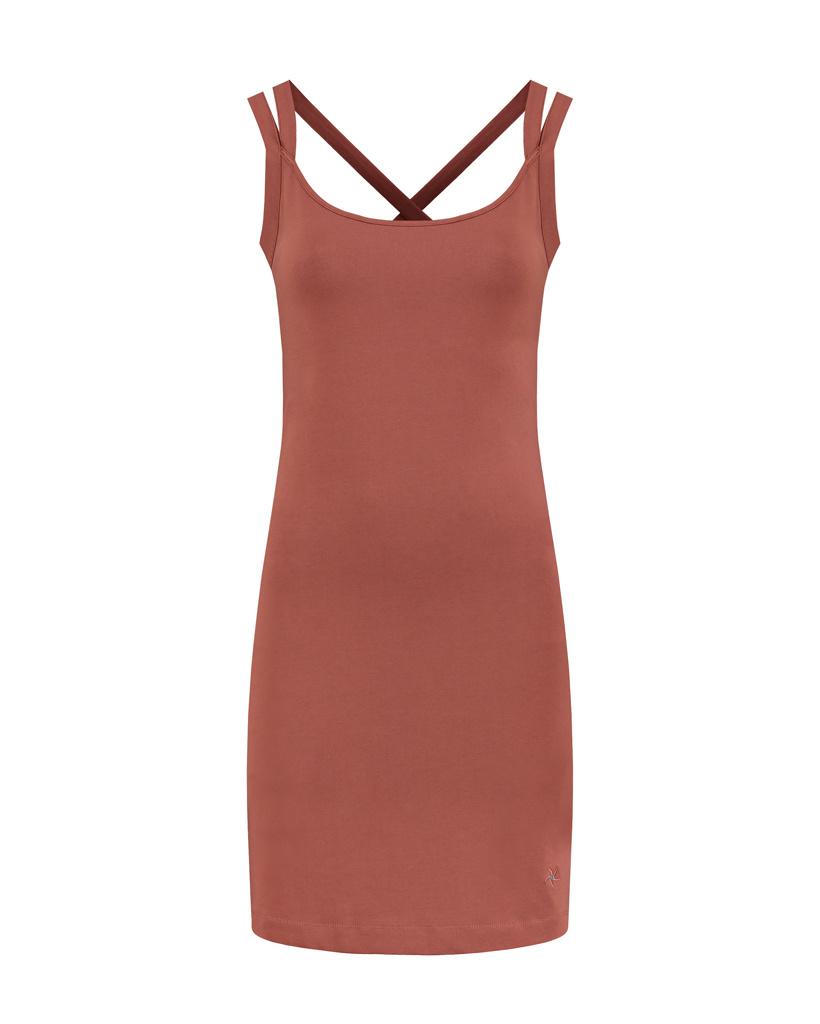 SYLVER Cotton Elastane Dress - Rust