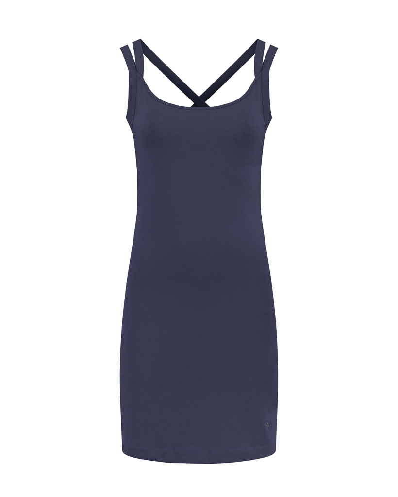 SYLVER Cotton Elastane Dress - Dark Blue