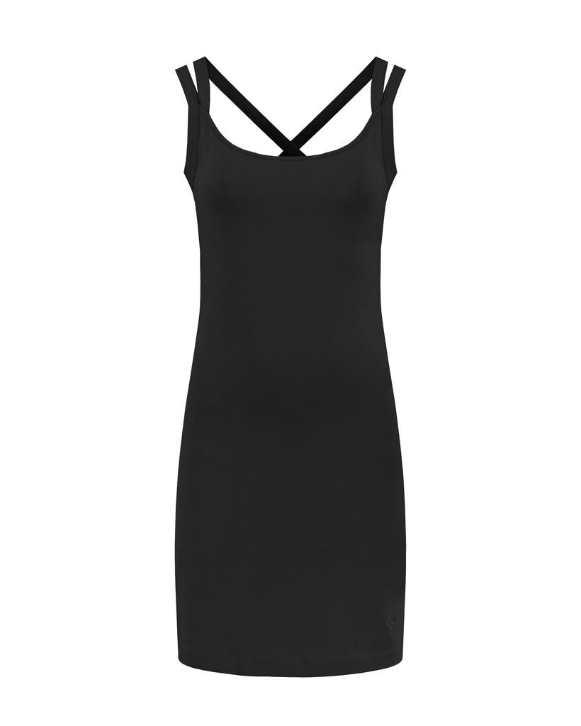 SYLVER Cotton Elastane Dress - Black
