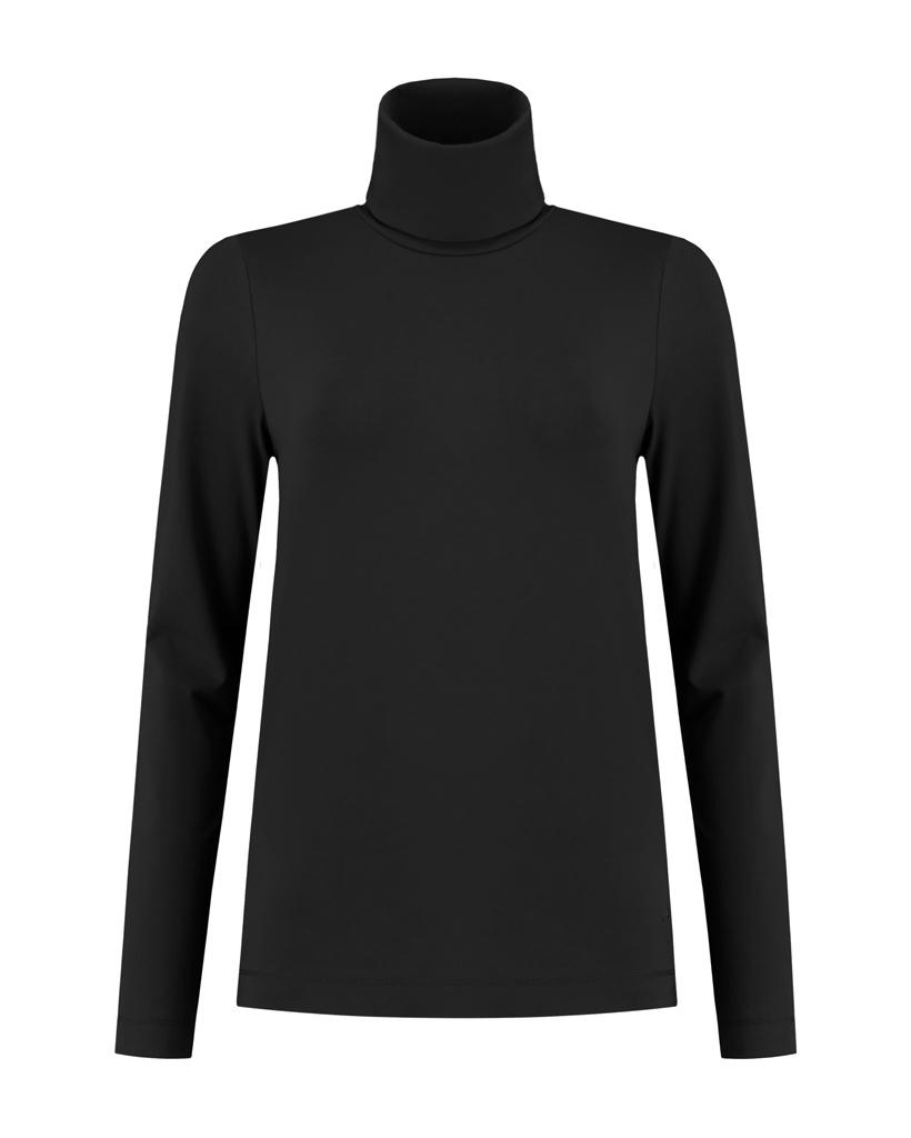 SYLVER Cotton Elastane Shirt Turtle-neck - Black