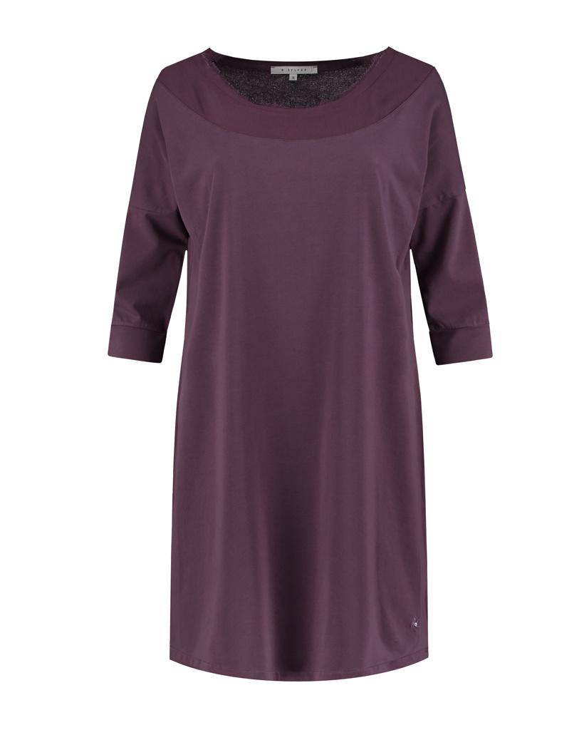 SYLVER Cotton Elastane Shirt 3/4 Sleeve - Choco Wine