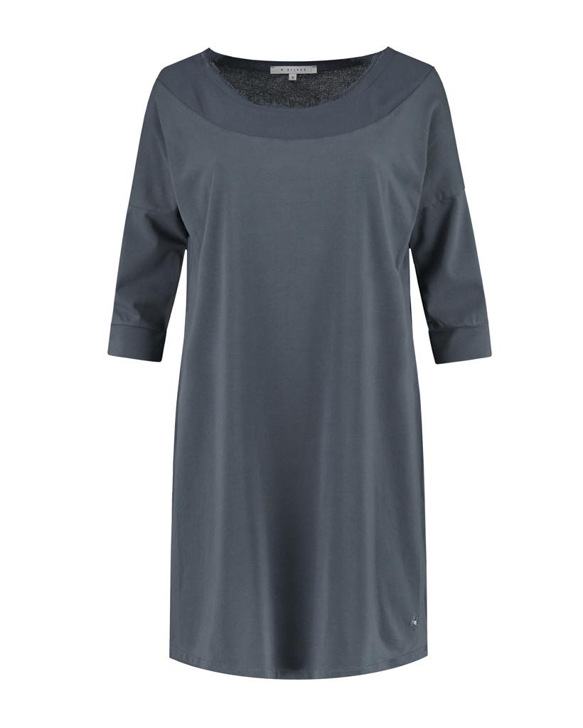 SYLVER Cotton Elastane Shirt 3/4 Sleeve - Grey