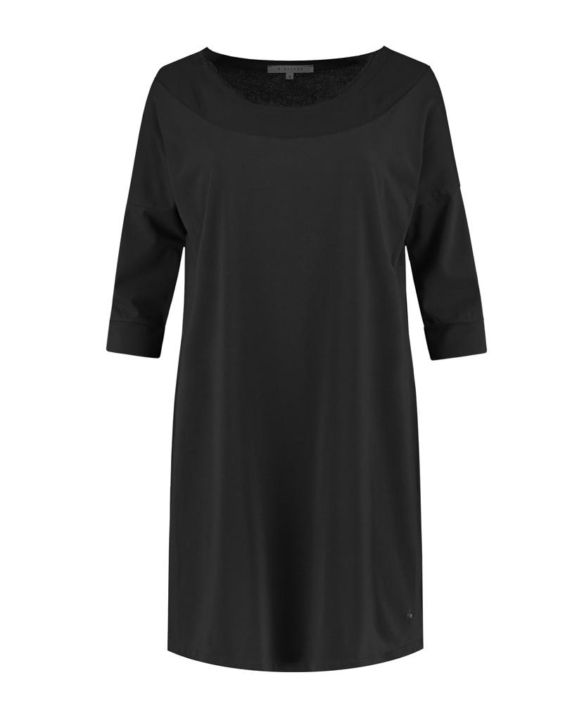 SYLVER Cotton Elastane Shirt 3/4 Sleeve - Black