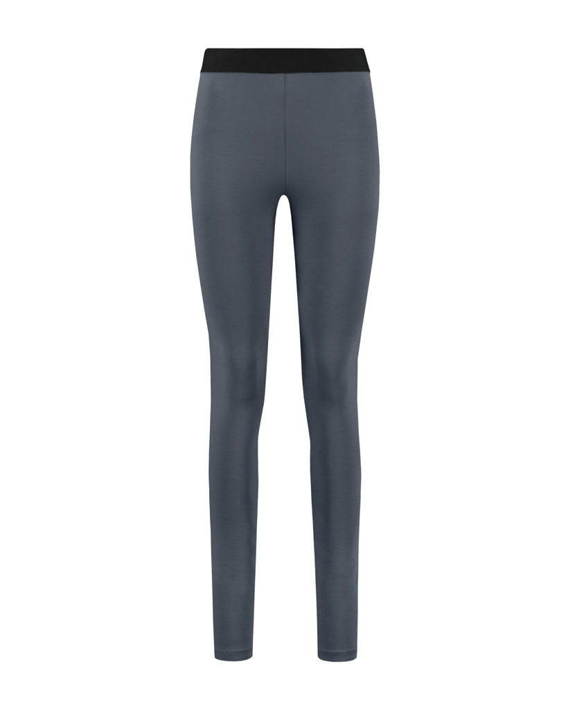 SYLVER Cotton Elastane Legging - Grey