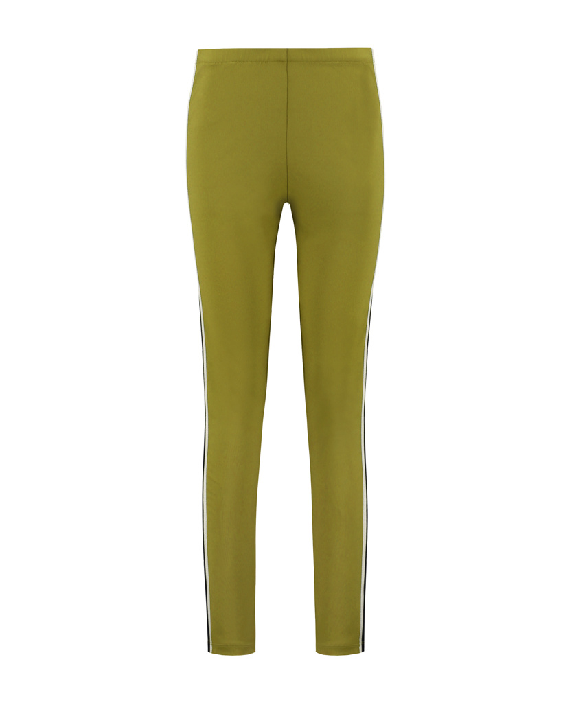 SYLVER Techno Jersey Trousers Piping - Country