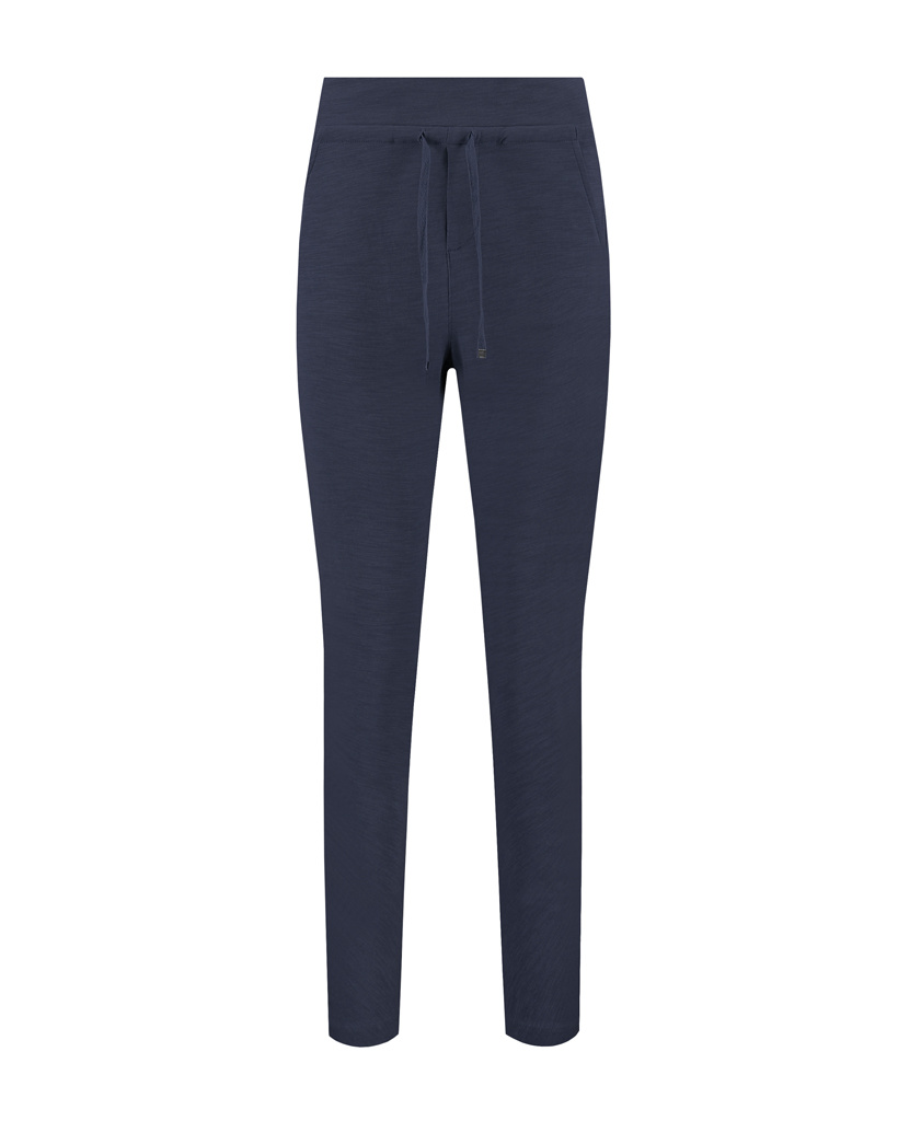SYLVER Light Slub Trousers - Dark Blue