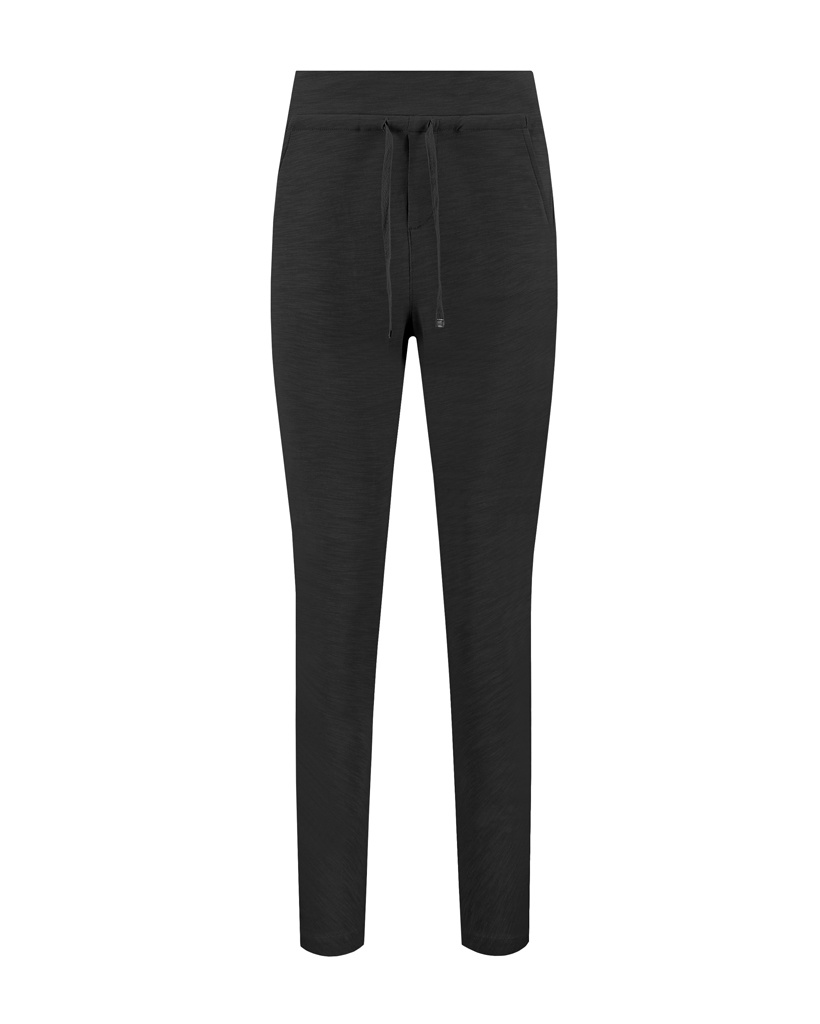 SYLVER Light Slub Trousers - Black