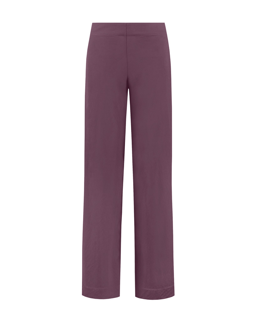 SYLVER Crêpe Stretch Trousers Flared - Choco Wine