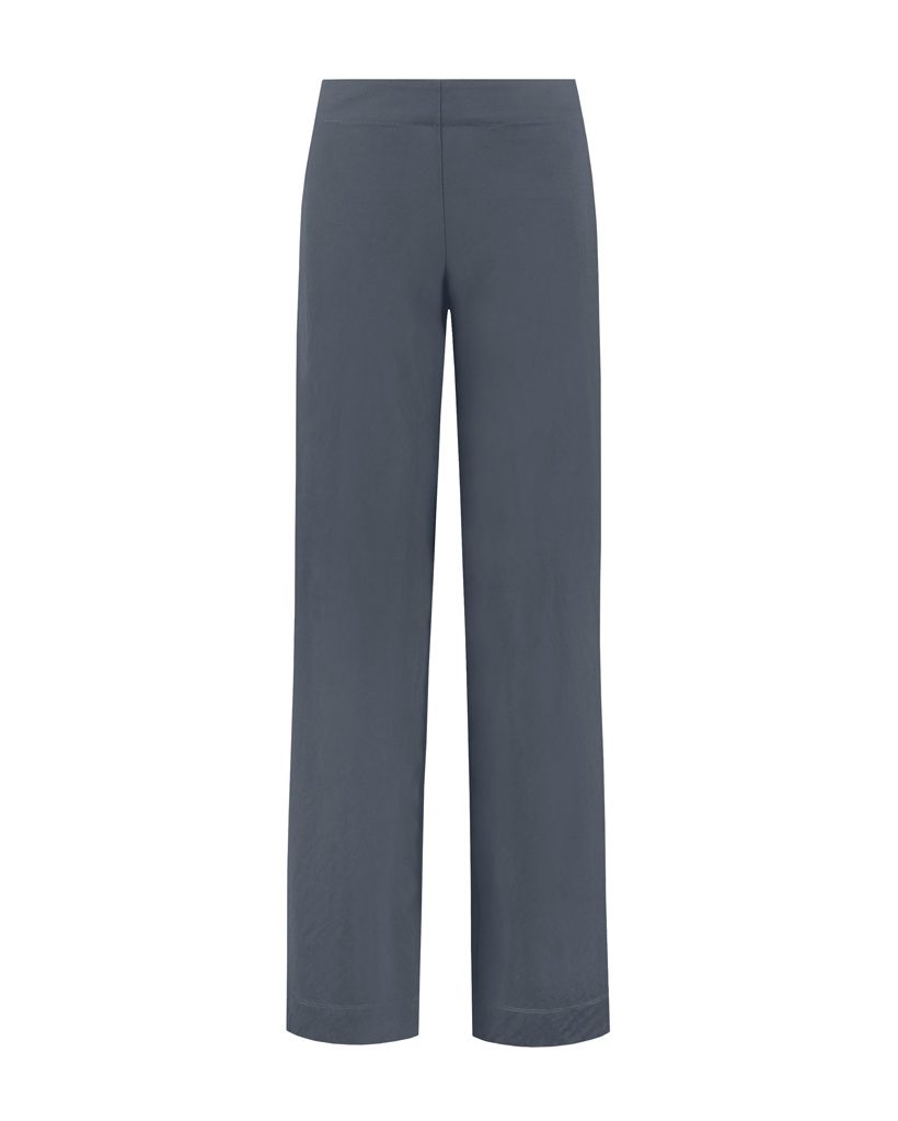 SYLVER Crêpe Stretch Trousers Flared - Grey