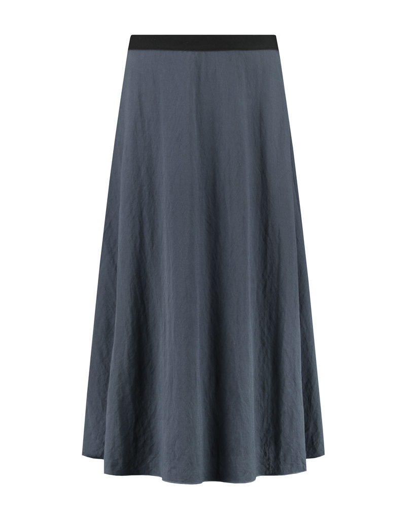 SYLVER Crêpe Stretch Skirt - Grey