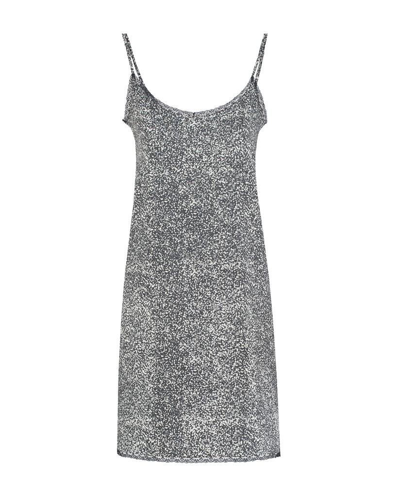 SYLVER Gravel Silky Jersey Slip Dress - Grey