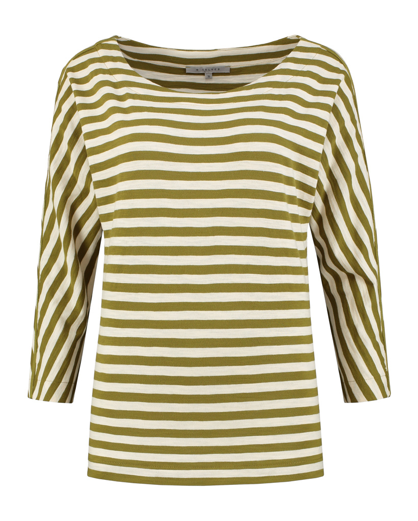 SYLVER Slub Sweat Jersey Shirt Boat-neck - Country