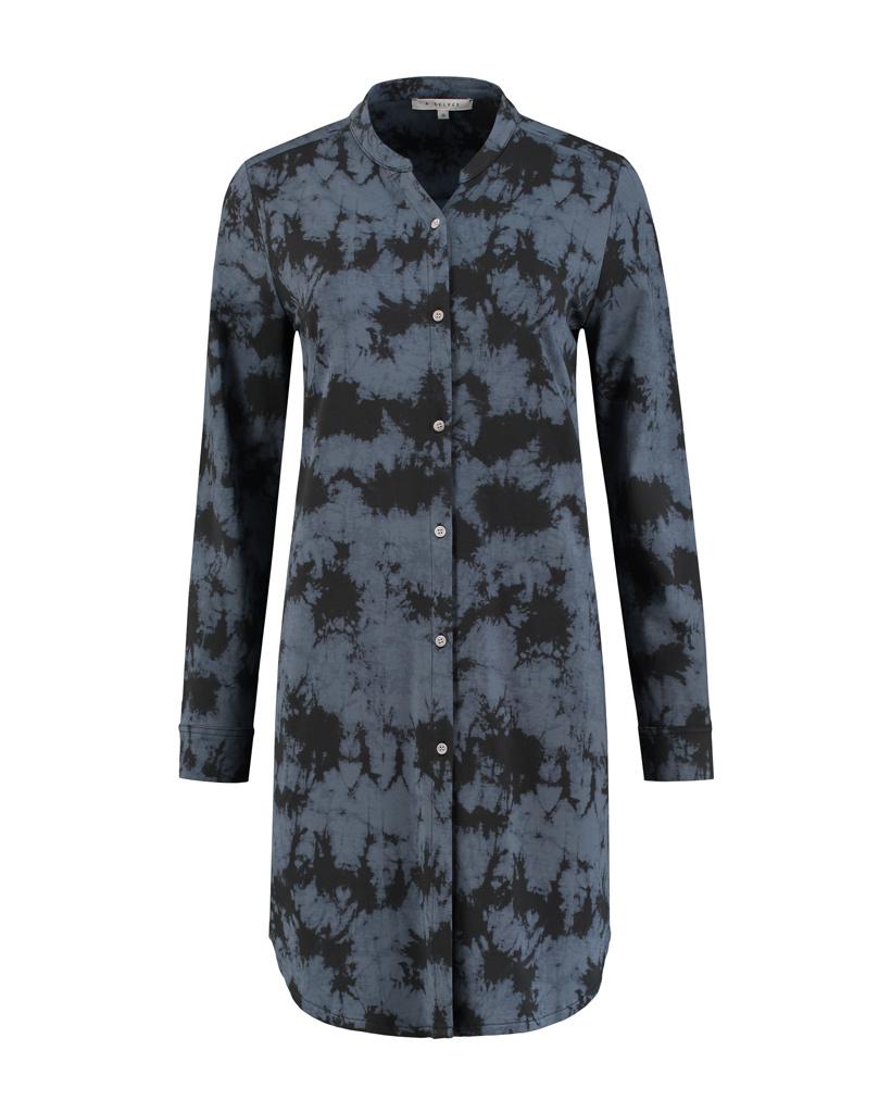 SYLVER Batik Blouse - Grey
