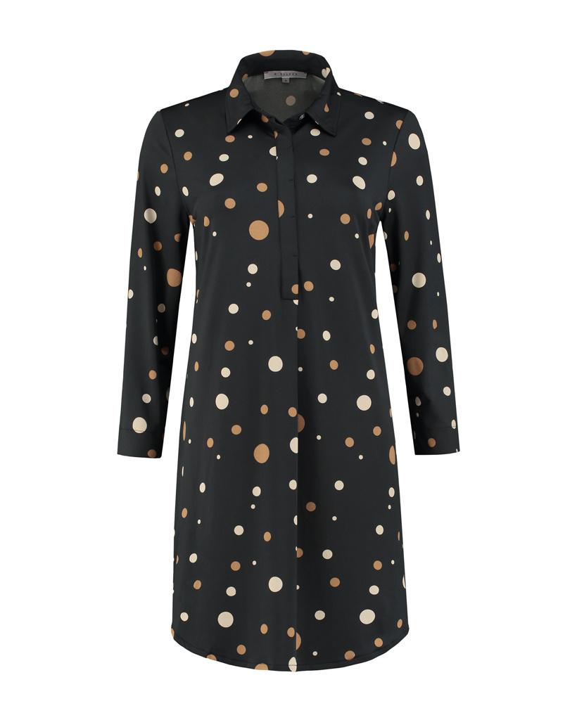 SYLVER Fantasy Dot Dress - Black