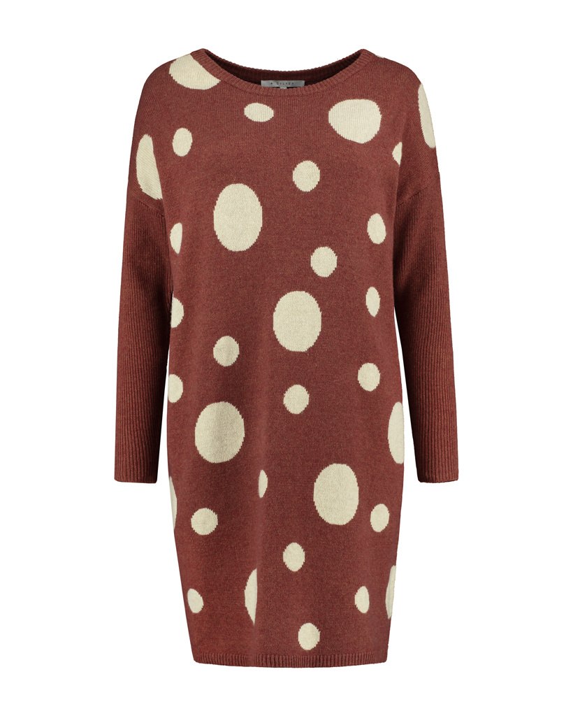 SYLVER Knitted Dot Pull - Rust