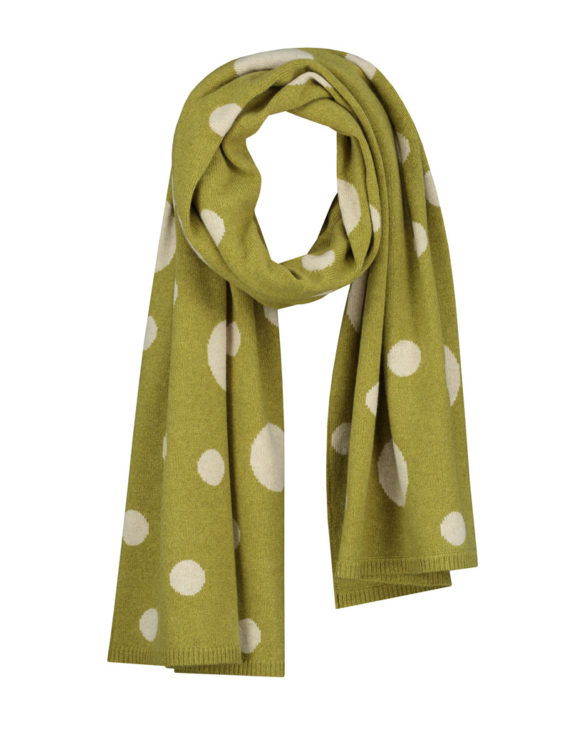 SYLVER Knitted Dot Shawl - Moss