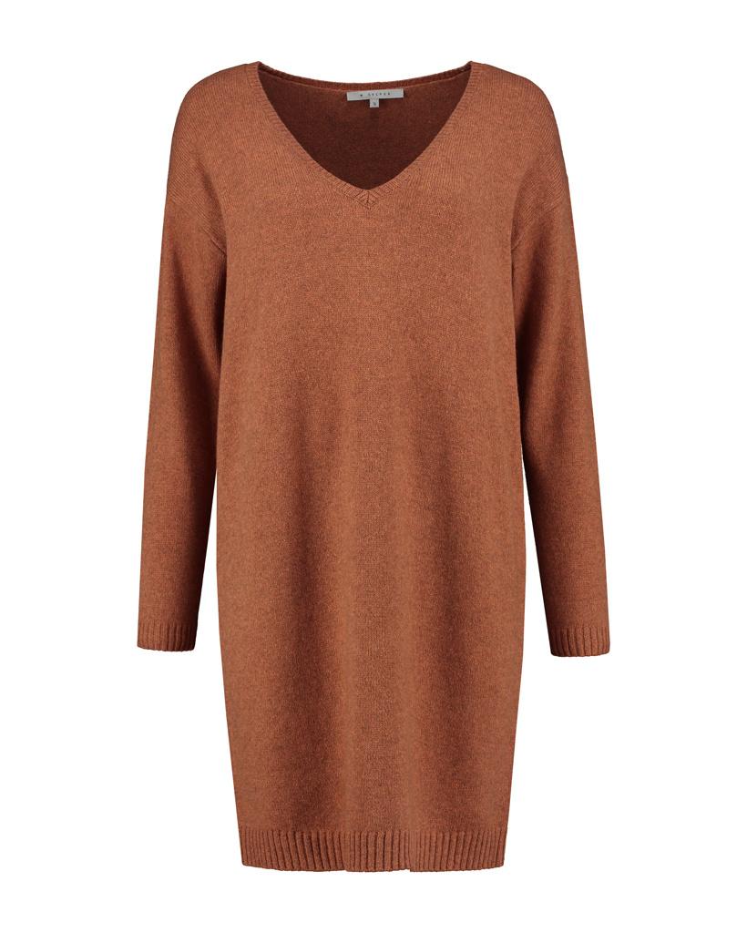 SYLVER Merino Mix Dress - Burnt Orange