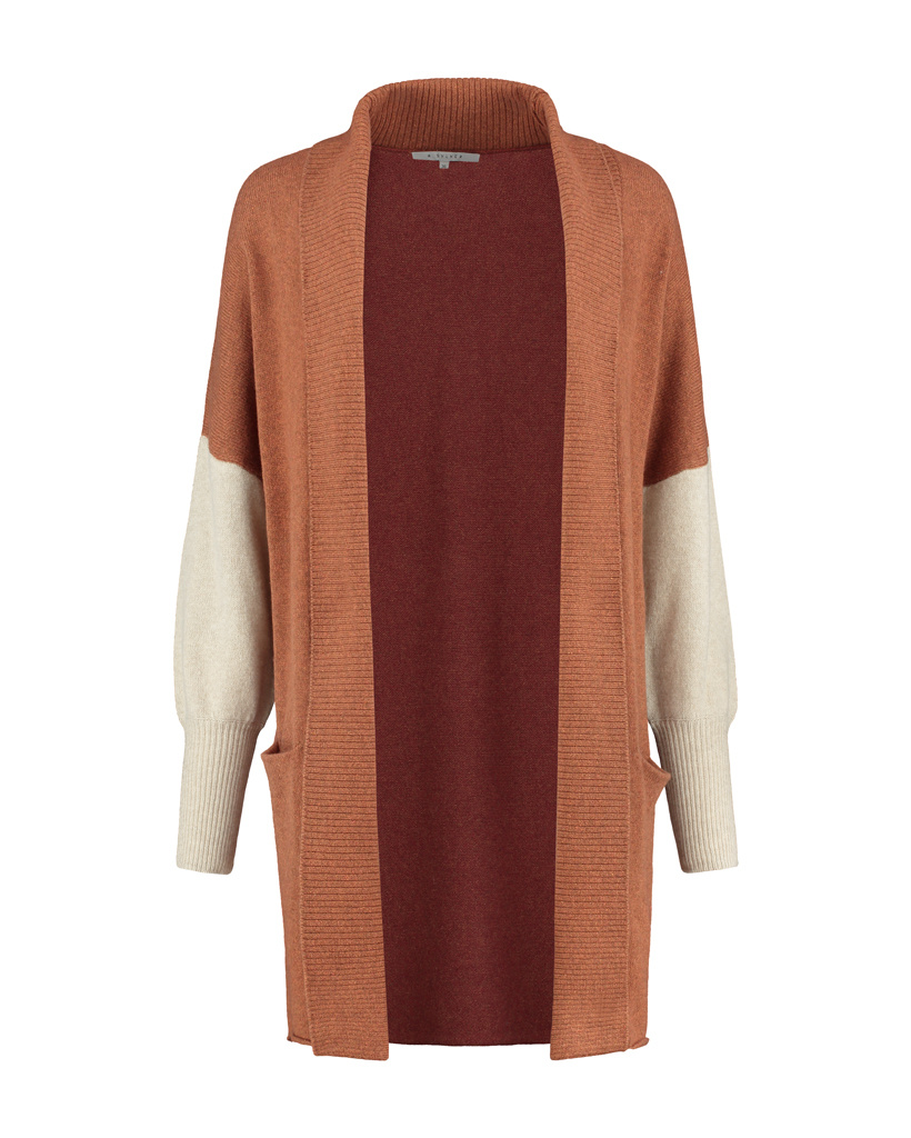 SYLVER Superb Cardigan - Burnt Orange