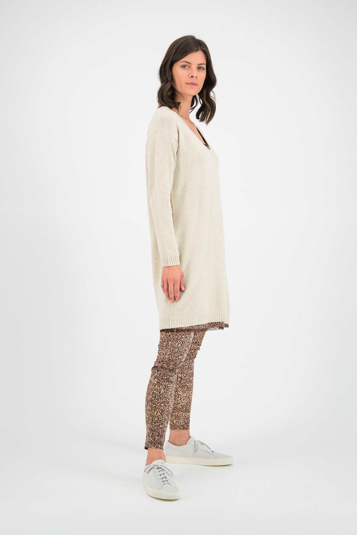 SYLVER Gravel Silky Jersey Pants - Brown