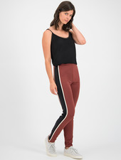 SYLVER Techno Jersey Trousers Piping - Rust