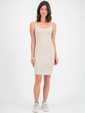 SYLVER Cotton Elastane Dress - Oatmeal