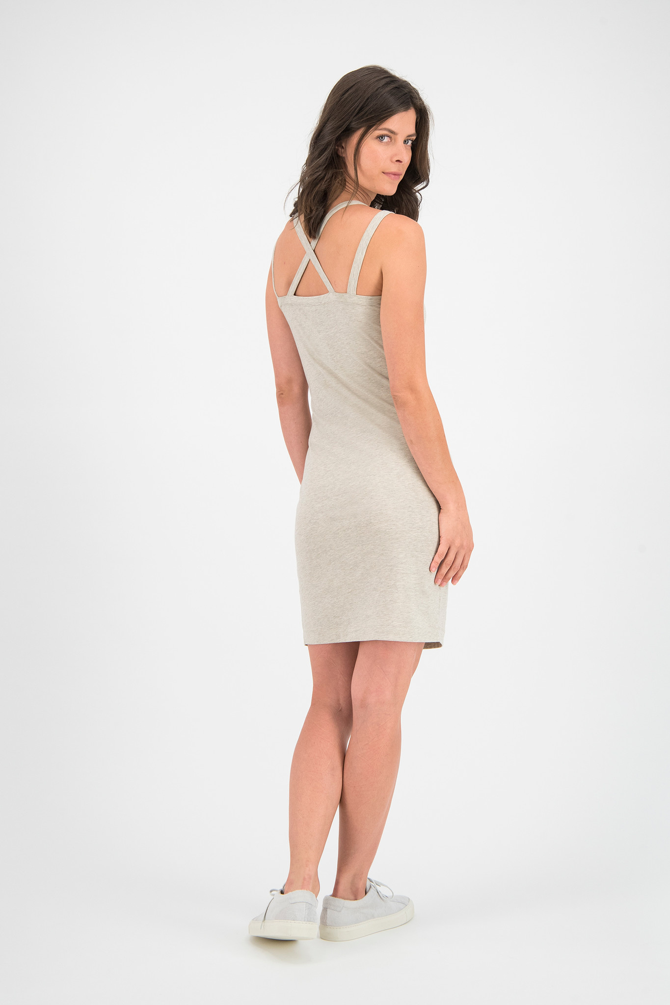 SYLVER Cotton Elastane Dress - Oatmeal
