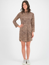 SYLVER Gravel Silky Jersey Dress - Brown