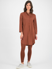 SYLVER Silky Jersey Dress - Rust