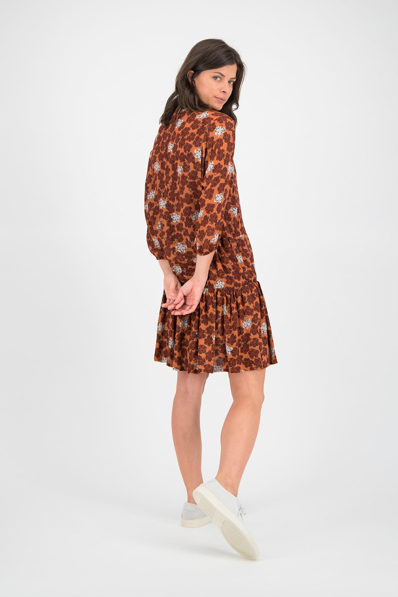 SYLVER Sketch Flowers Dress - Burnt Orange