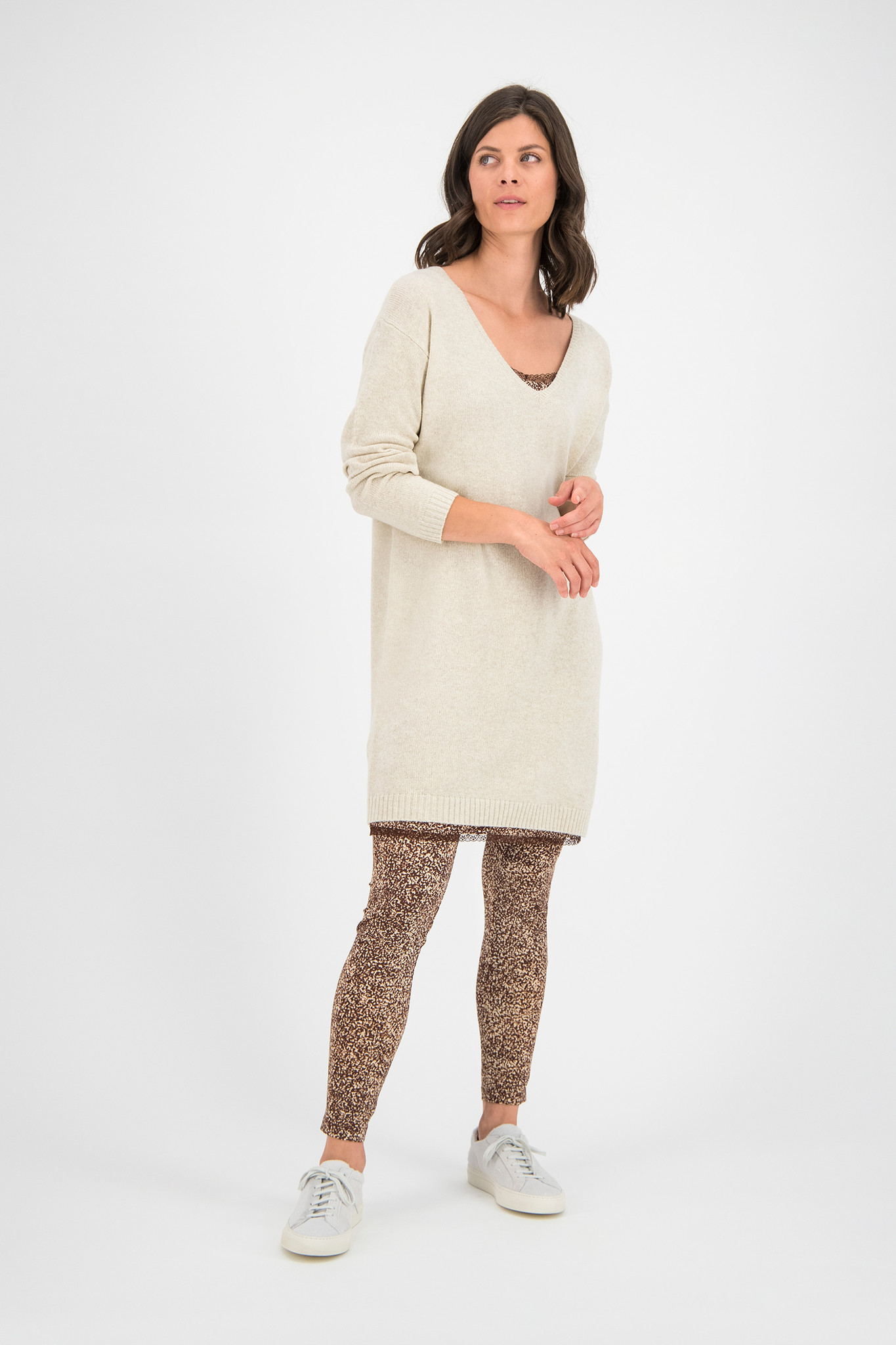 SYLVER Merino Mix Dress - Oatmeal