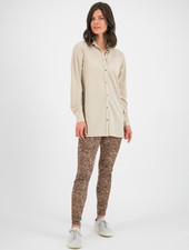 SYLVER Crêpe Stretch Blouse - Oatmeal