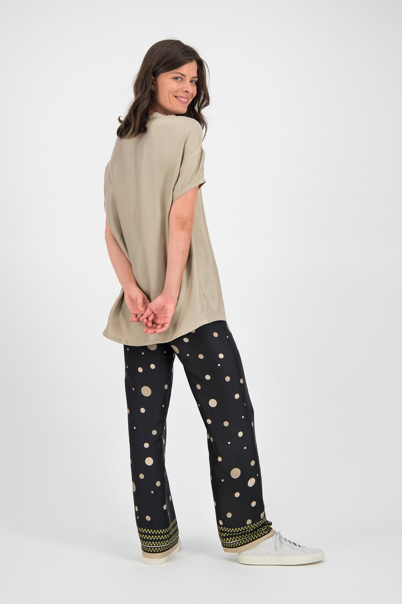 SYLVER Twill Silk Shirt - Oatmeal