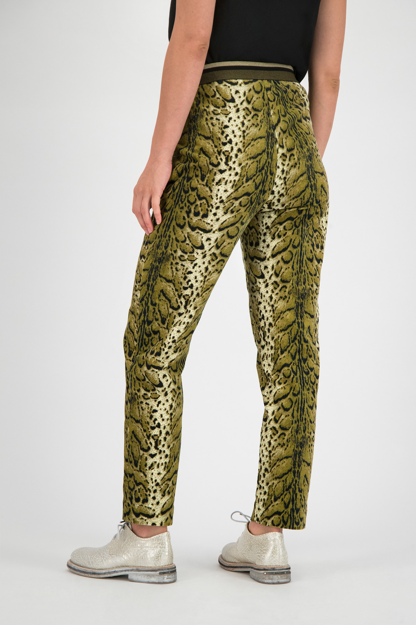 SYLVER Leopard Trousers - Country