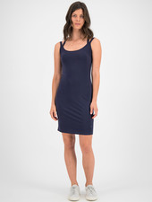 SYLVER Cotton Elastane Dress - Dark Blue
