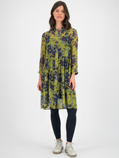 SYLVER Blue Flowers Blouse - Moss