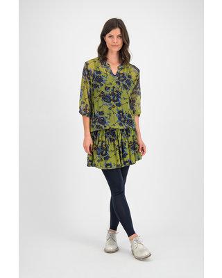 SYLVER Blue Flowers Dress - Moss