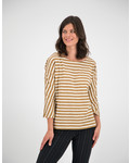SYLVER Slub Sweat Jersey Shirt Boat-neck - Caramel
