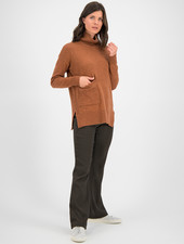 SYLVER Merino Mix Pull Turtle-neck - Burnt Orange