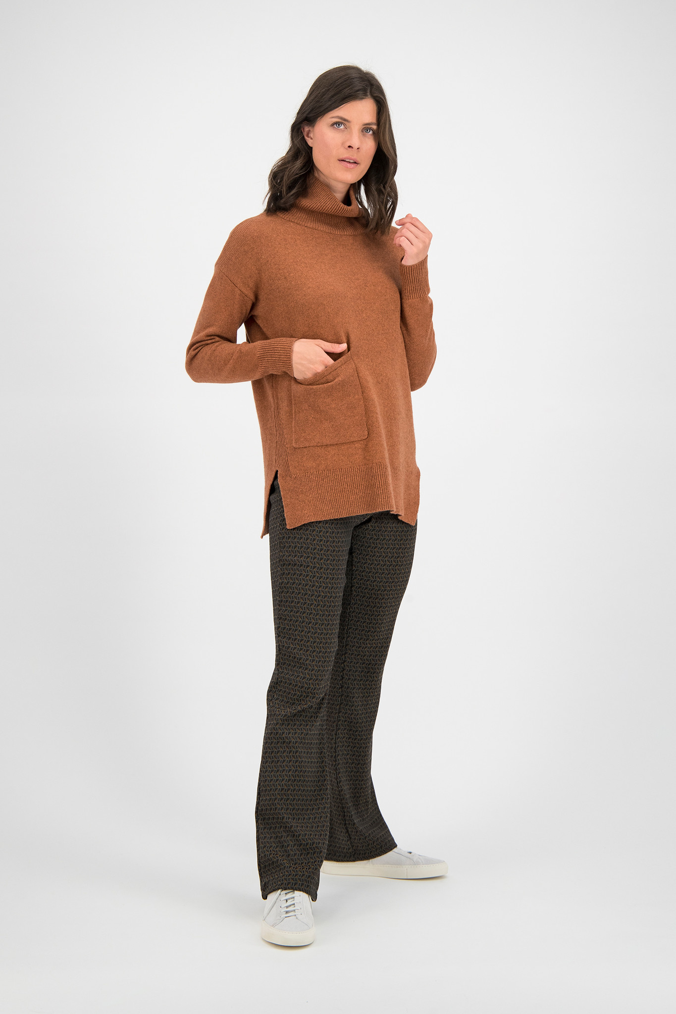 SYLVER Fancy Trousers Flared - Caramel