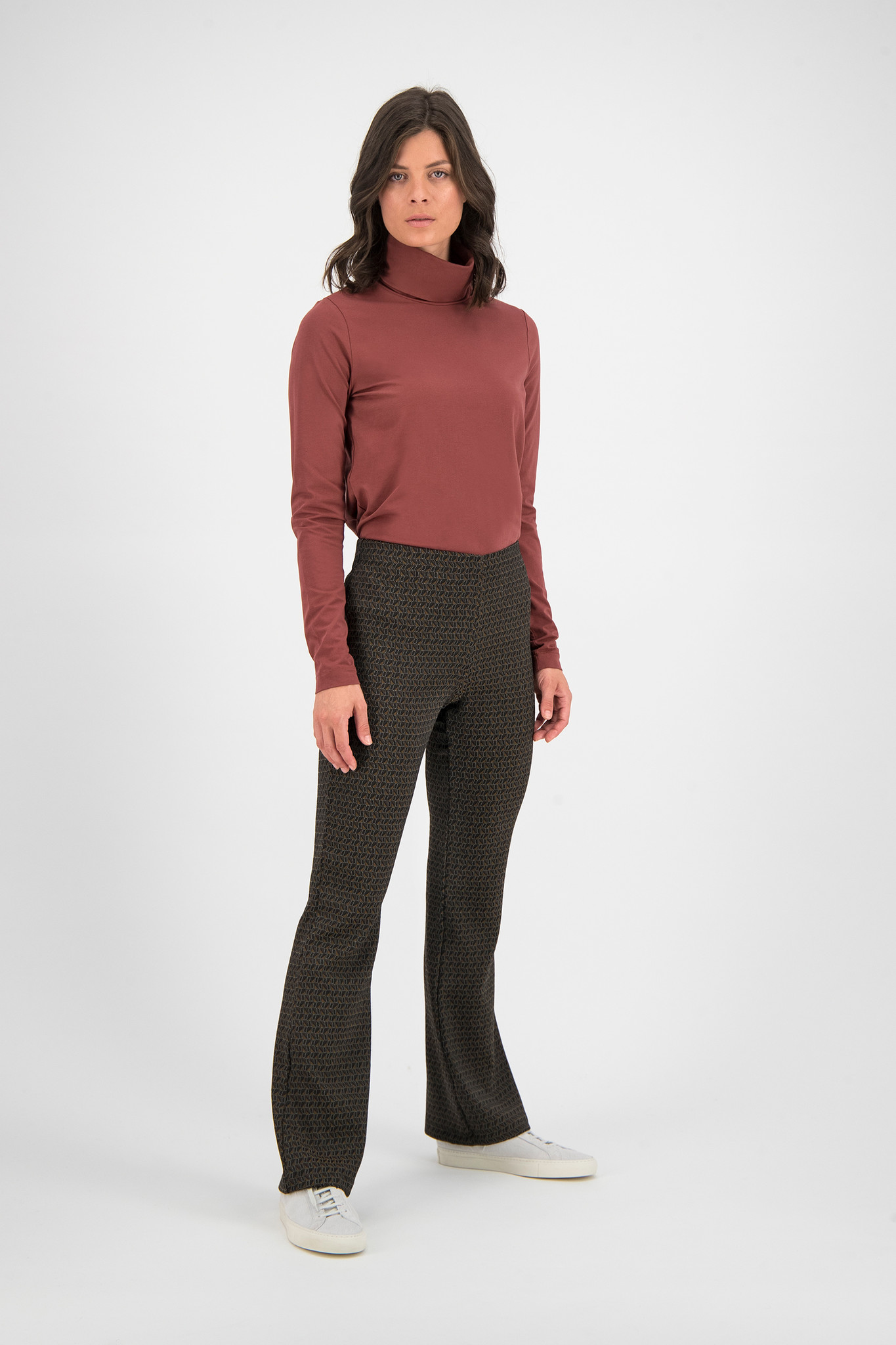 SYLVER Cotton Elastane Shirt Turtle-neck - Rust