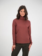 SYLVER Cotton Elastane Shirt Turtle-neck - Rust