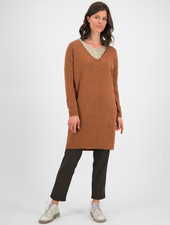 SYLVER Merino Mix Dress - Burnt Orange