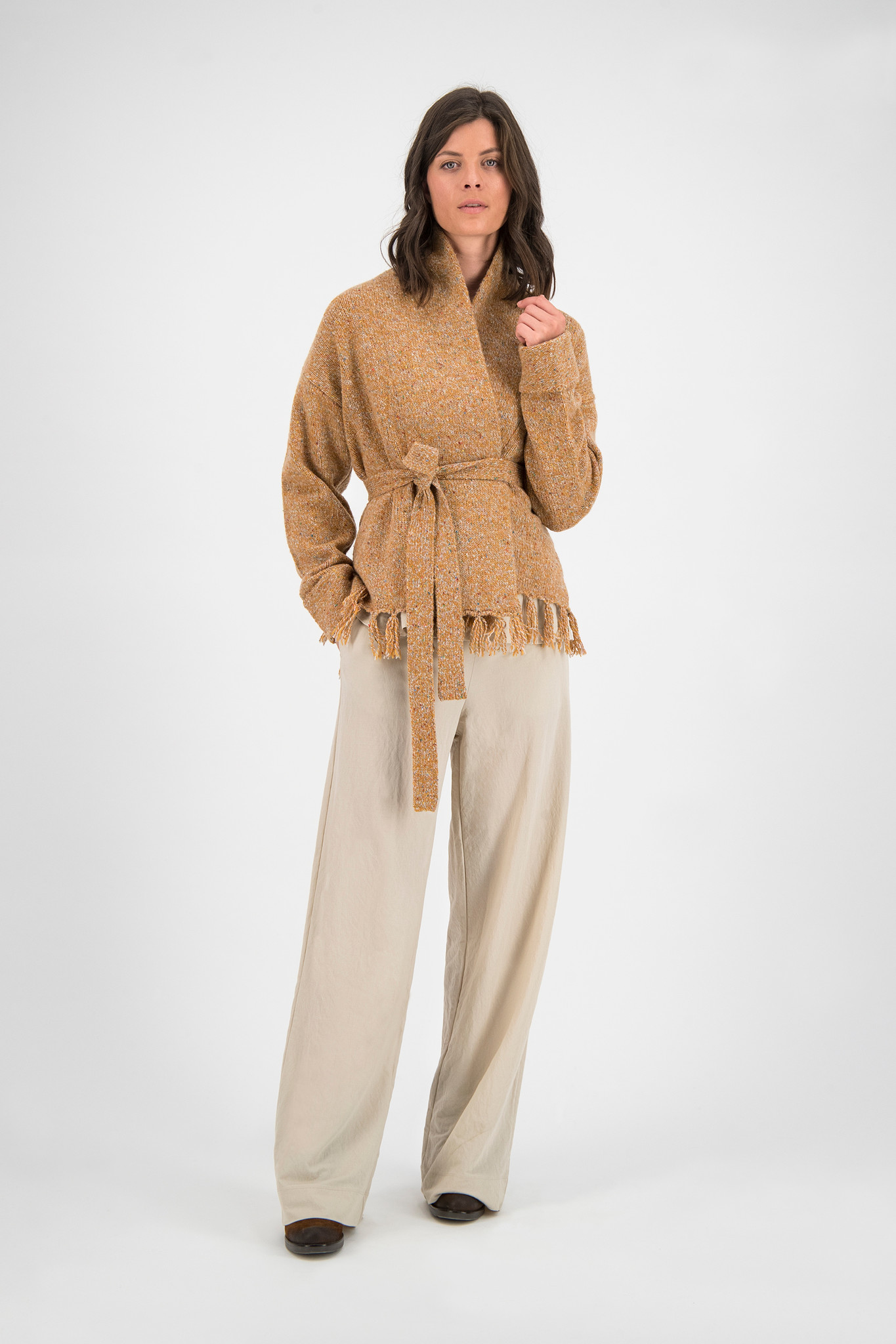 SYLVER Colour Twist Cardigan - Soft Orange