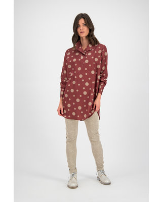 SYLVER Dot Blouse - Rust