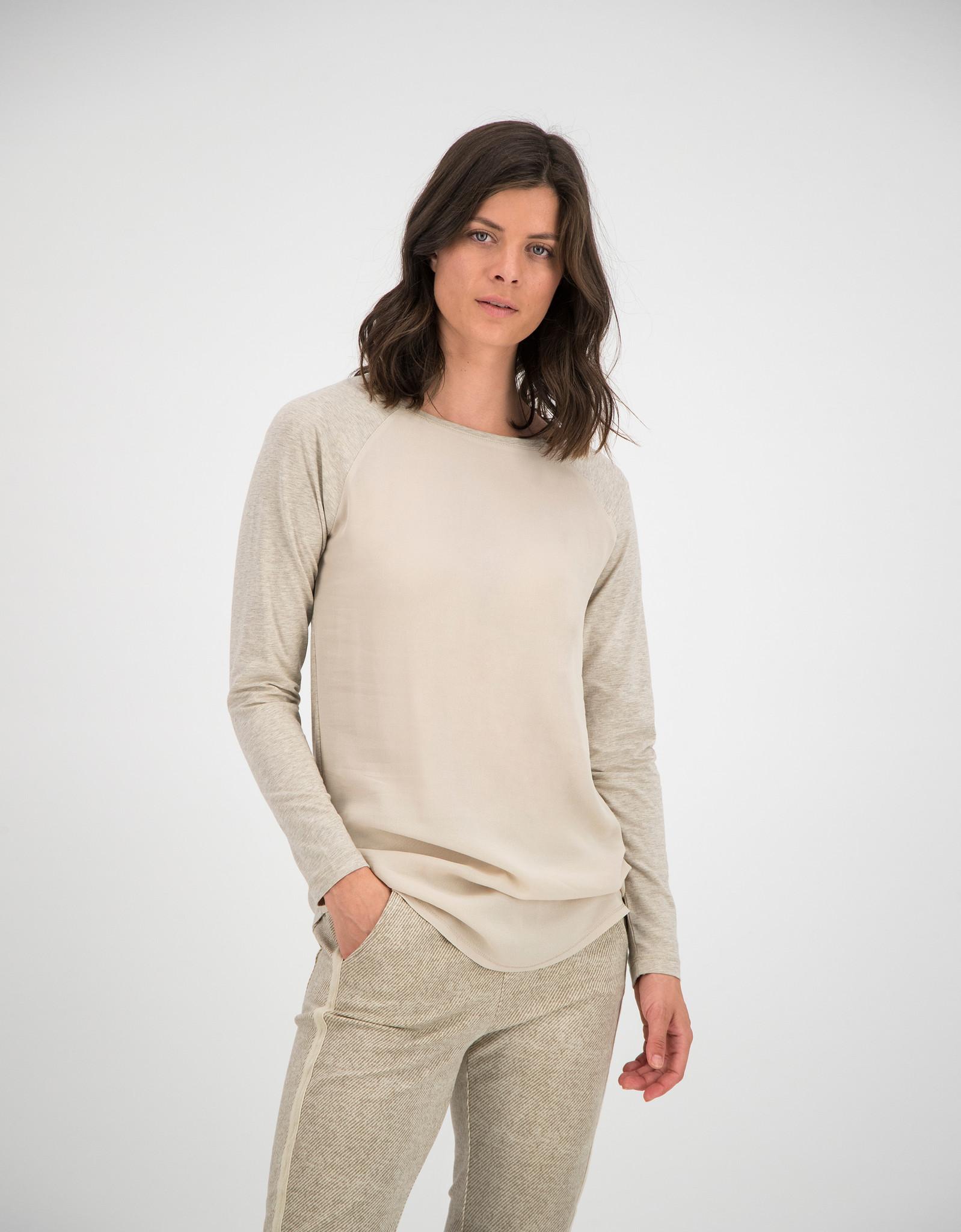SYLVER Cotton Elastane Shirt Long Sleeve - Oatmeal