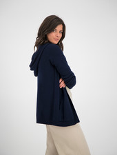 SYLVER Merino Mix Cardigan - Dark Blue